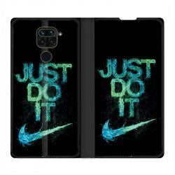 Housse Cuir Portefeuille Pour Xiaomi Redmi Note 9 Nike Just Do It