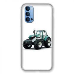 Coque Pour Oppo Reno 4 Agriculture Tracteur Blanc