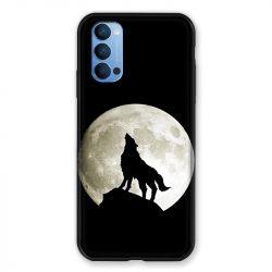 Coque Pour Oppo Reno 4 Loup Noir