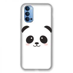 Coque Pour Oppo Reno 4 Panda Blanc