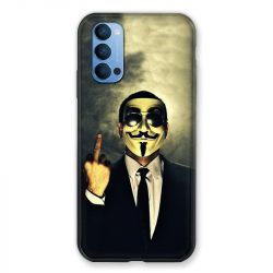 Coque Pour Oppo Reno 4 Anonymous Doigt
