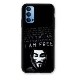 Coque Pour Oppo Reno 4 Anonymous I am free