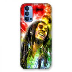 Coque Pour Oppo Reno 4 Bob Marley Color