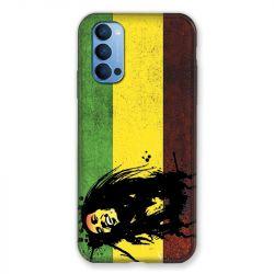 Coque Pour Oppo Reno 4 Bob Marley Drapeau