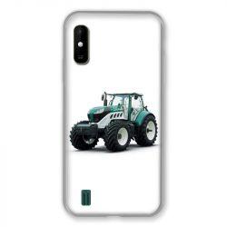 Coque Pour Wiko Y81 Agriculture Tracteur Blanc