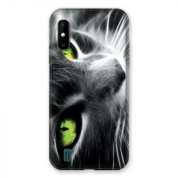 Coque Pour Wiko Y81 Chat Vert