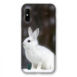 Coque Pour Wiko Y81 Lapin Blanc