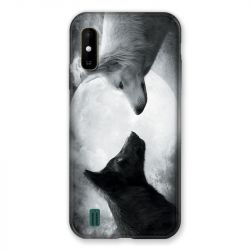Coque Pour Wiko Y81 Loup Duo