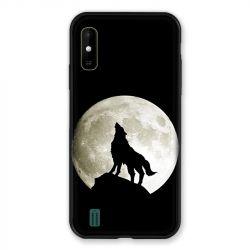 Coque Pour Wiko Y81 Loup Noir