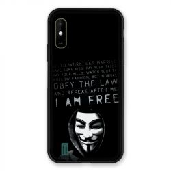 Coque Pour Wiko Y81 Anonymous I am free