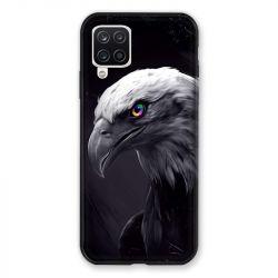 Coque Pour Samsung Galaxy A12 Aigle Royal Noir
