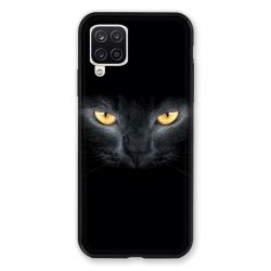 Coque Pour Samsung Galaxy A12 Chat Noir