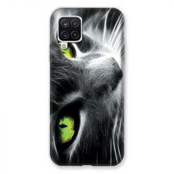 Coque Pour Samsung Galaxy A12 Chat Vert
