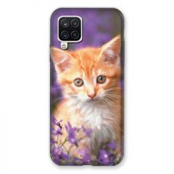 Coque Pour Samsung Galaxy A12 Chat Violet