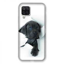 Coque Pour Samsung Galaxy A12 Chien Noir