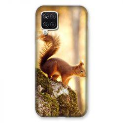 Coque Pour Samsung Galaxy A12 Ecureuil Bois