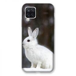 Coque Pour Samsung Galaxy A12 Lapin Blanc