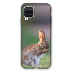 Coque Pour Samsung Galaxy A12 Lapin Marron
