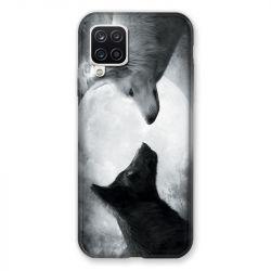 Coque Pour Samsung Galaxy A12 Loup Duo