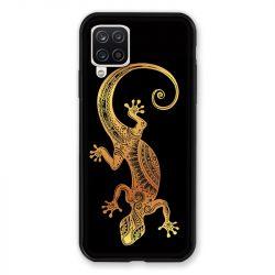 Coque Pour Samsung Galaxy A12 Animaux Maori Lezard Noir
