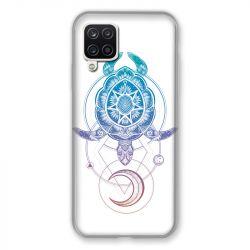 Coque Pour Samsung Galaxy A12 Animaux Maori Tortue Color