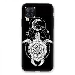 Coque Pour Samsung Galaxy A12 Animaux Maori Tortue Noir
