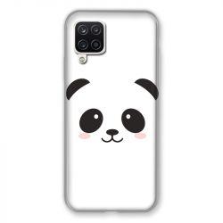 Coque Pour Samsung Galaxy A12 Panda Blanc