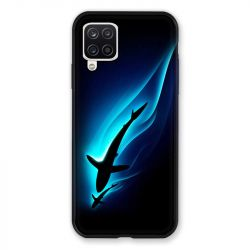 Coque Pour Samsung Galaxy A12 Requin Noir
