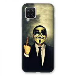 Coque Pour Samsung Galaxy A12 Anonymous Doigt