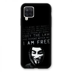Coque Pour Samsung Galaxy A12 Anonymous I am free