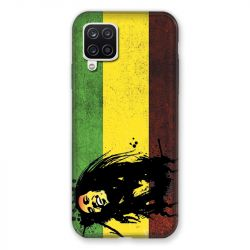 Coque Pour Samsung Galaxy A12 Bob Marley Drapeau