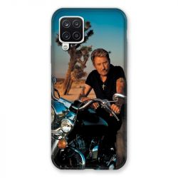 Coque Pour Samsung Galaxy A12 Johnny Hallyday Moto