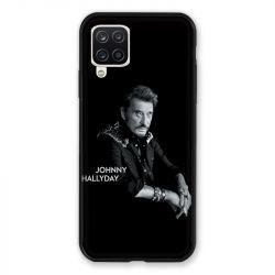Coque Pour Samsung Galaxy A12 Johnny Hallyday Noir