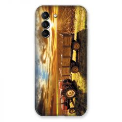 Coque Pour Samsung Galaxy S21 Agriculture Tracteur Color