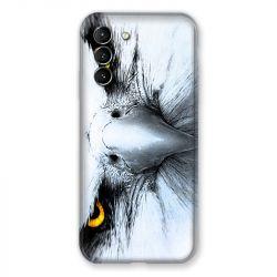 Coque Pour Samsung Galaxy S21 Aigle Royal Blanc