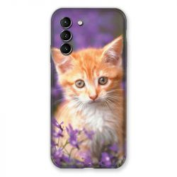 Coque Pour Samsung Galaxy S21 Chat Violet