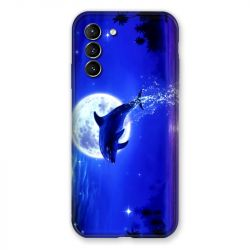 Coque Pour Samsung Galaxy S21 Dauphin Lune