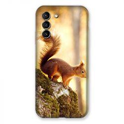 Coque Pour Samsung Galaxy S21 Ecureuil Bois