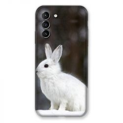 Coque Pour Samsung Galaxy S21 Lapin Blanc