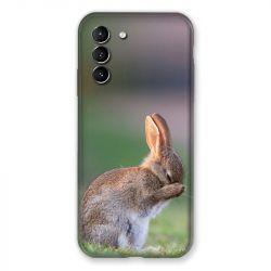 Coque Pour Samsung Galaxy S21 Lapin Marron