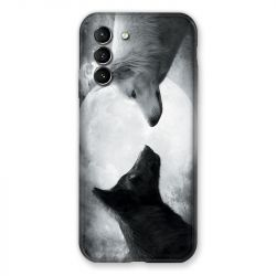 Coque Pour Samsung Galaxy S21 Loup Duo