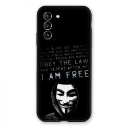 Coque Pour Samsung Galaxy S21 Anonymous I am free
