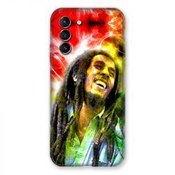 Coque Pour Samsung Galaxy S21 Bob Marley Color
