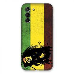 Coque Pour Samsung Galaxy S21 Bob Marley Drapeau