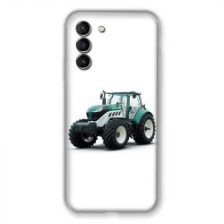 Coque Pour Samsung Galaxy S21 Agriculture Tracteur Blanc