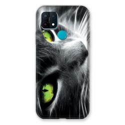 Coque Pour Oppo A15 Chat Vert