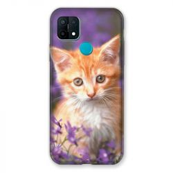Coque Pour Oppo A15 Chat Violet