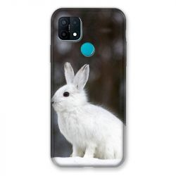Coque Pour Oppo A15 Lapin Blanc