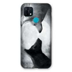 Coque Pour Oppo A15 Loup Duo