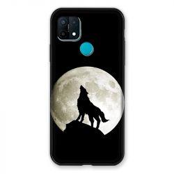 Coque Pour Oppo A15 Loup Noir